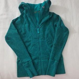 Zella teal zip-up hoodie